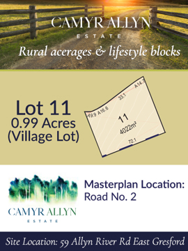 Lot 11 - Camyr Allyn Estate
