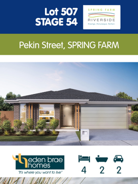 Lot 507 - Eden Brae House and Land Package